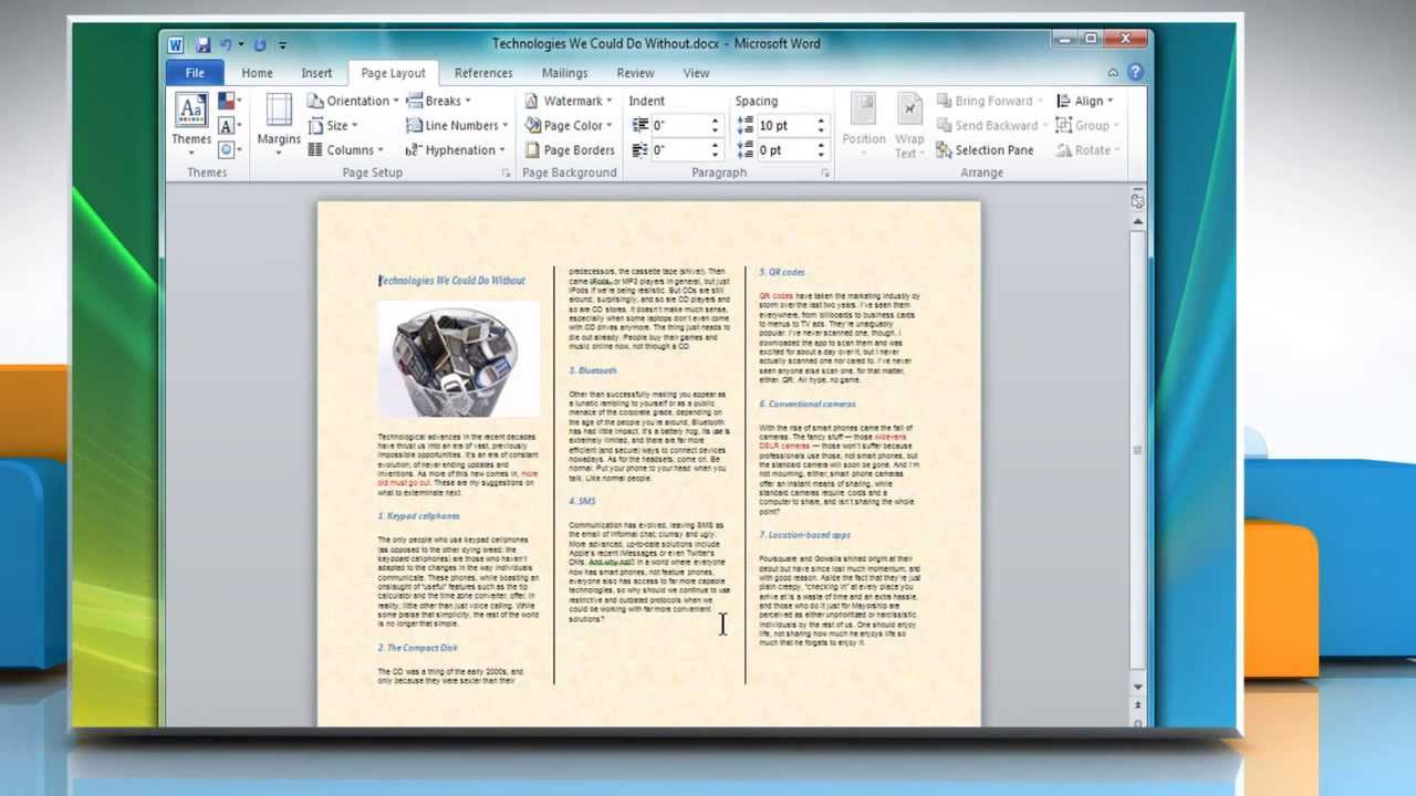 How To Make A Tri Fold Brochure In Microsoft® Word 2007 Intended For Brochure Templates For Word 2007