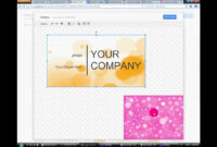 How To Make Buisness Card In Google Docs Or Ms Publisher in Business Card Template For Google Docs