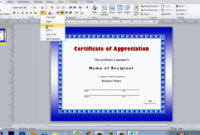 How To Make Certificate Using Microsoft Publisher throughout Award Certificate Templates Word 2007