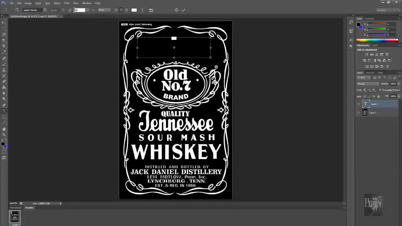 How To Make Jack Daniels Logo In Photoshop Quick & Easy For Blank Jack Daniels Label Template