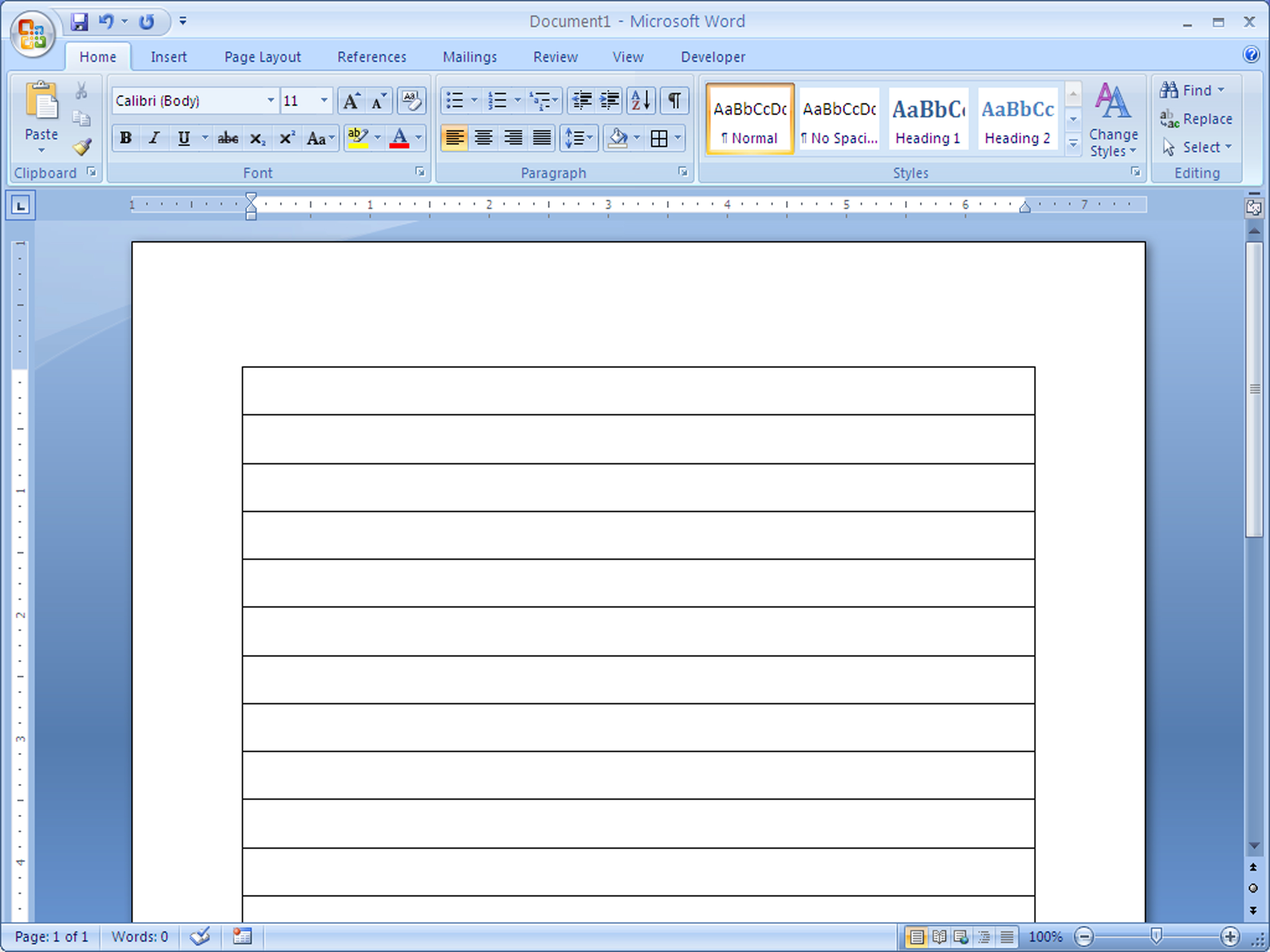 How To Make Lined Paper In Word 2007: 4 Steps (With Pictures) Within Notebook Paper Template For Word 2010