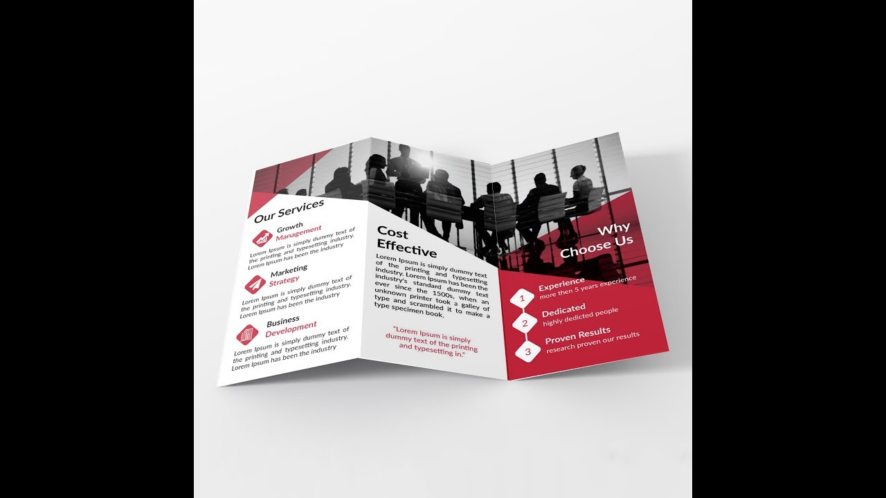 How To Make Tri Fold Brochure Layout In Adobe Illustrator (Bangla) In Adobe Illustrator Tri Fold Brochure Template