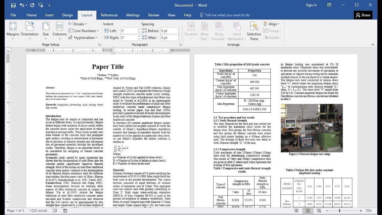 How To Prepare Research Paper For Publication In Ms Word (Easy) For Scientific Paper Template Word 2010