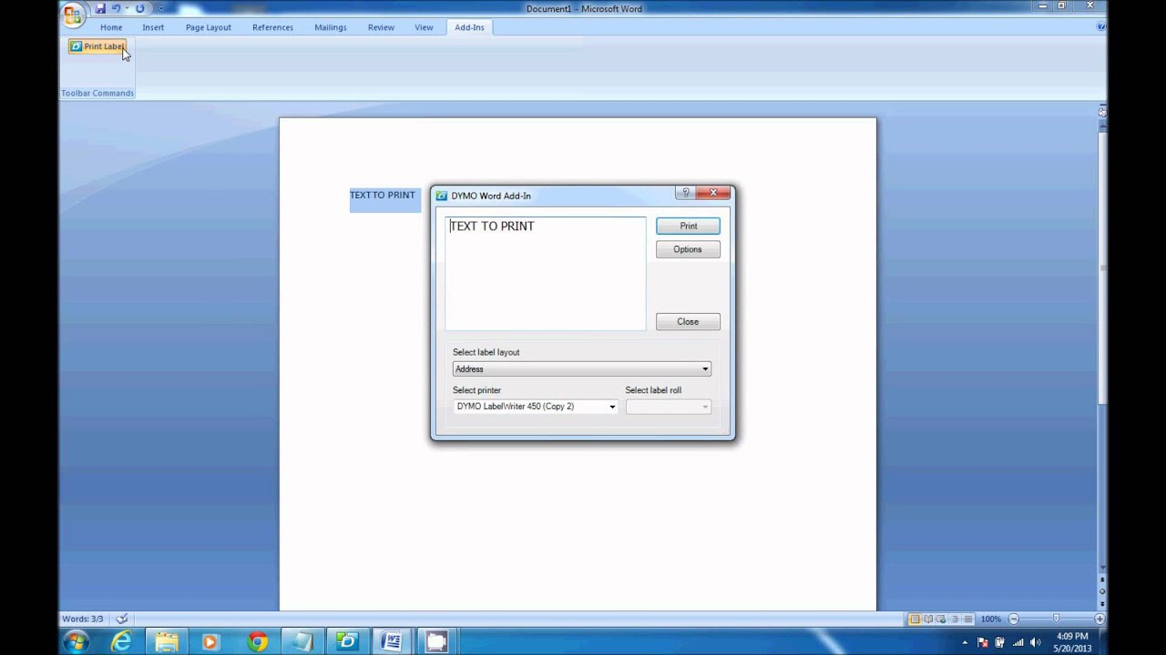 How To Print From Dymo Label Software In Microsoft Word Within Dymo Label Templates For Word