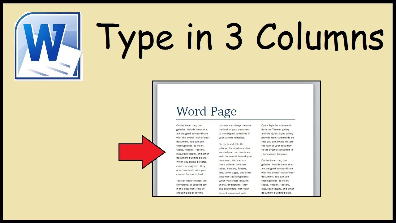 How To Type In 3 Columns Word Inside 3 Column Word Template