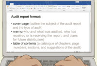 How To Write An Audit Report: 14 Steps (With Pictures) – Wikihow inside Internal Control Audit Report Template
