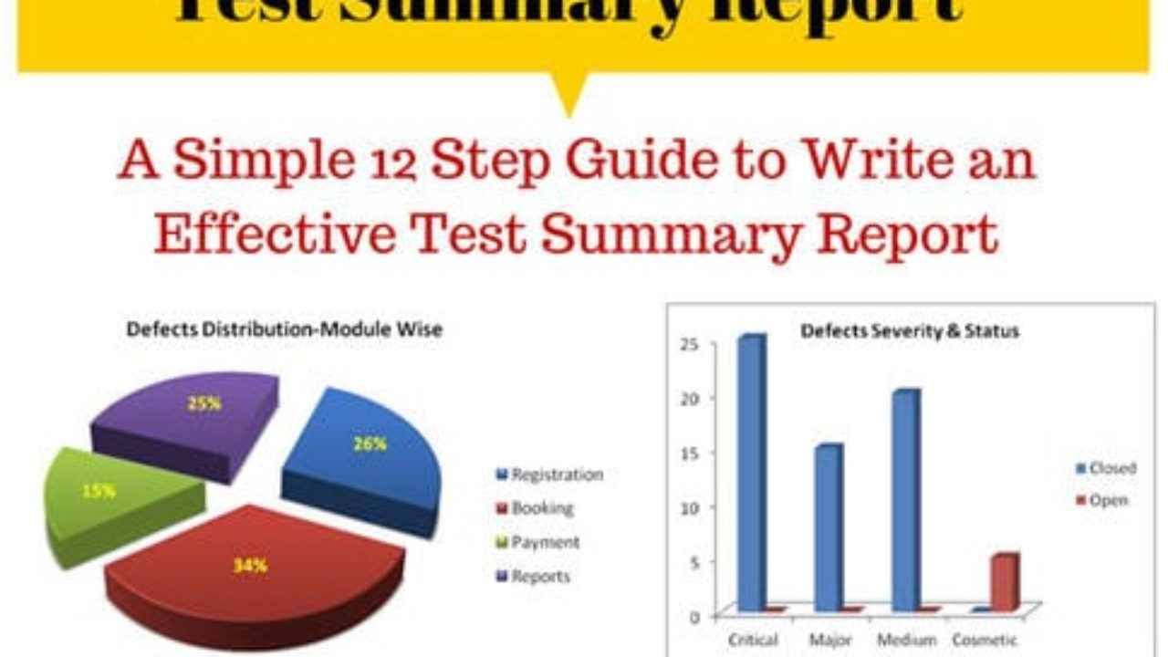 How To Write An Effective Test Summary Report [Download With Regard To Test Exit Report Template
