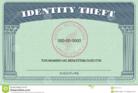 Identity Theft Card Stock Illustration. Illustration Of regarding Blank Social Security Card Template Download