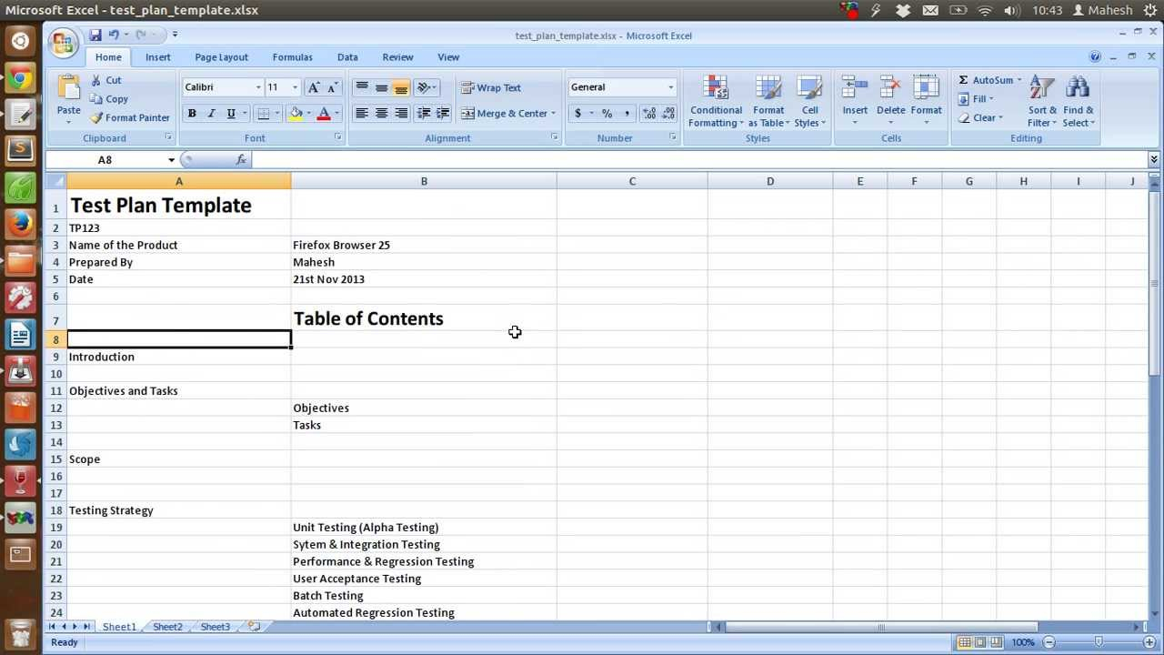 Ieee Sample Test Plan Template With Software Test Plan Template Word