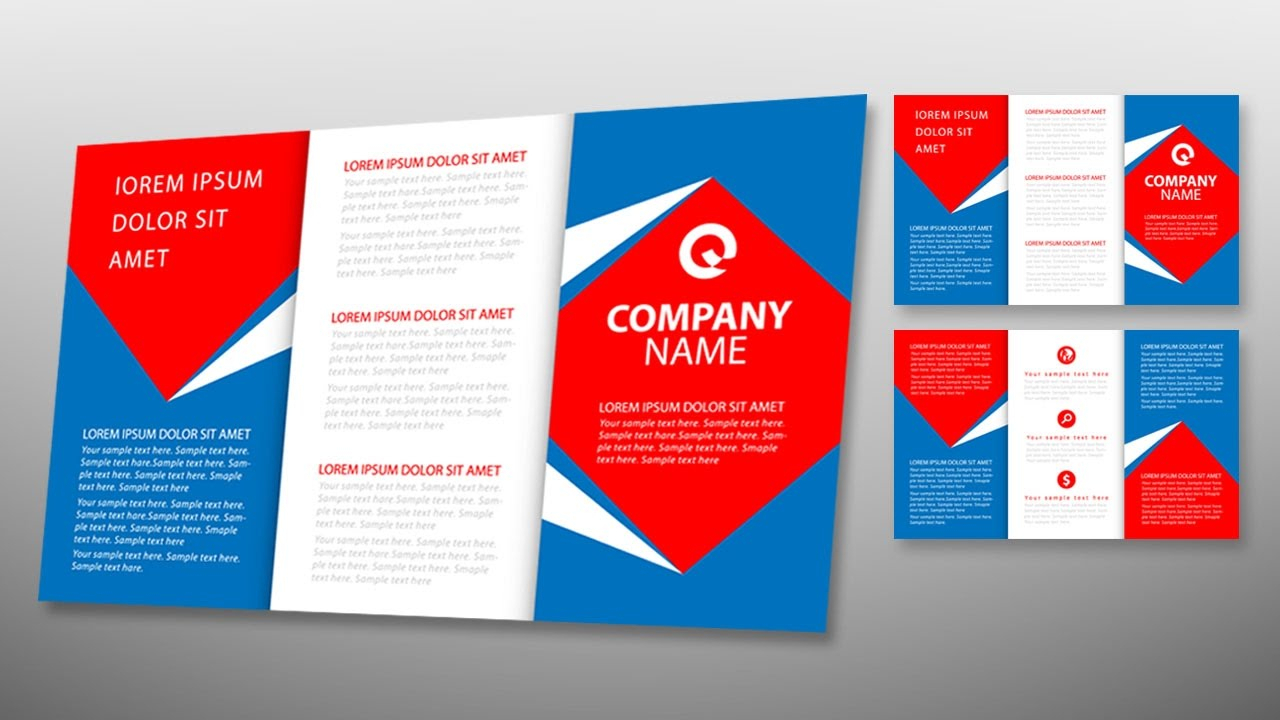 Illustrator Tutorial – Tri Fold Brochure Design Template In Adobe Illustrator Tri Fold Brochure Template