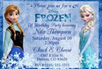 Image For Frozen Birthday Invitations Templates | Frozen within Frozen Birthday Card Template