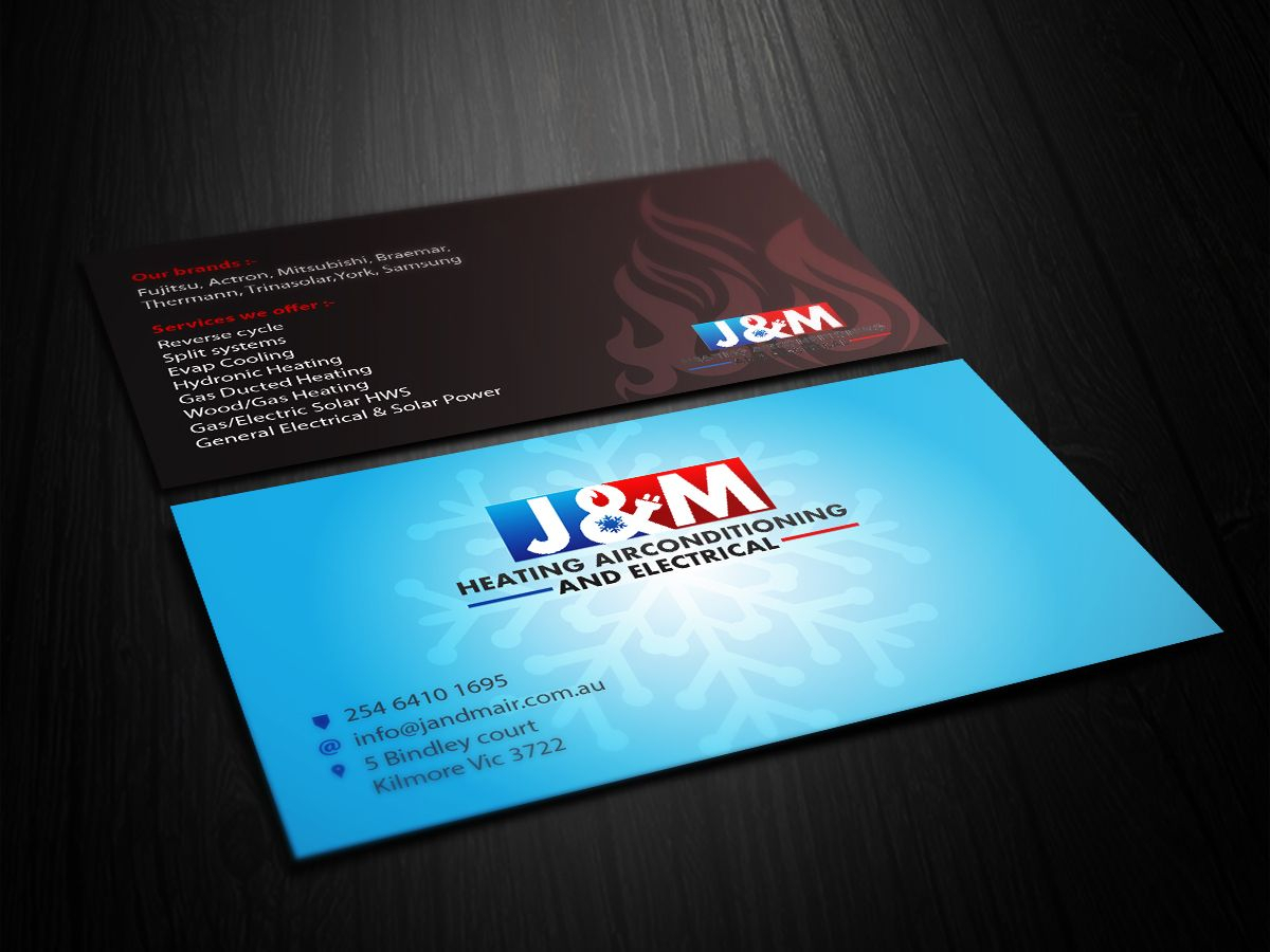 Image Result For Business Card Ideas For Hvac And Electrical Inside Hvac Business Card Template
