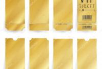 Images: Blank Golden Ticket Template | Vip Ticket Template for Blank Train Ticket Template