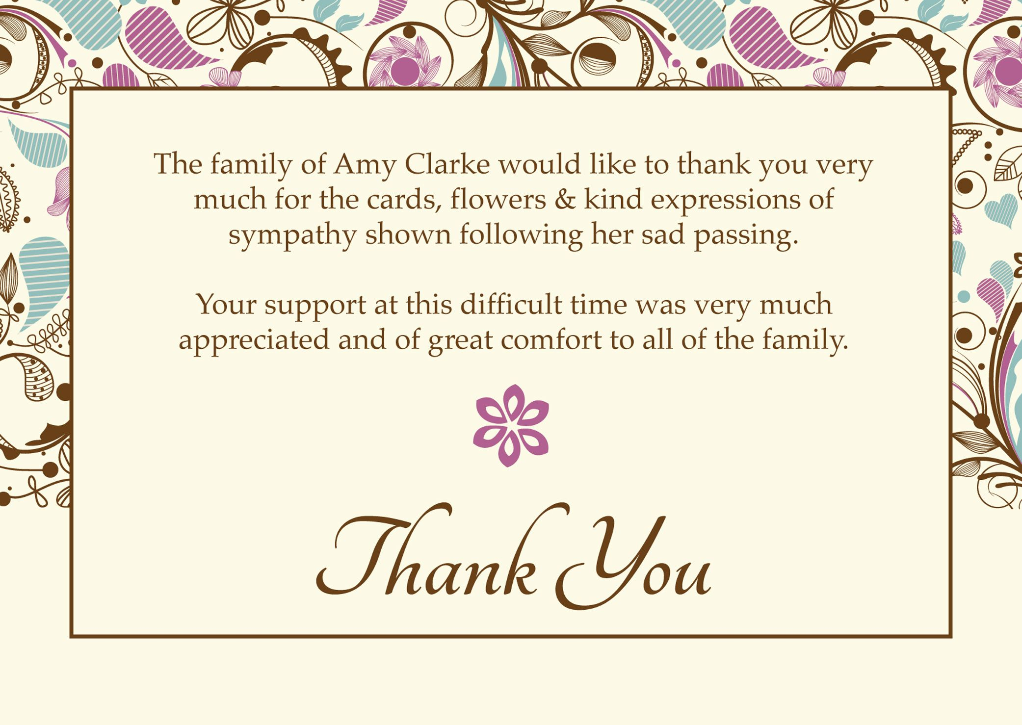 Images Of Thank You Cards Wallpaper Free With Hd Desktop With Sympathy Thank You Card Template