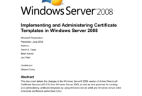 Implementing And Administering Certificate Templates in Active Directory Certificate Templates