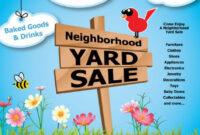 Impressive Garage Sale Flyer Template Free Ideas in Yard Sale Flyer Template Word
