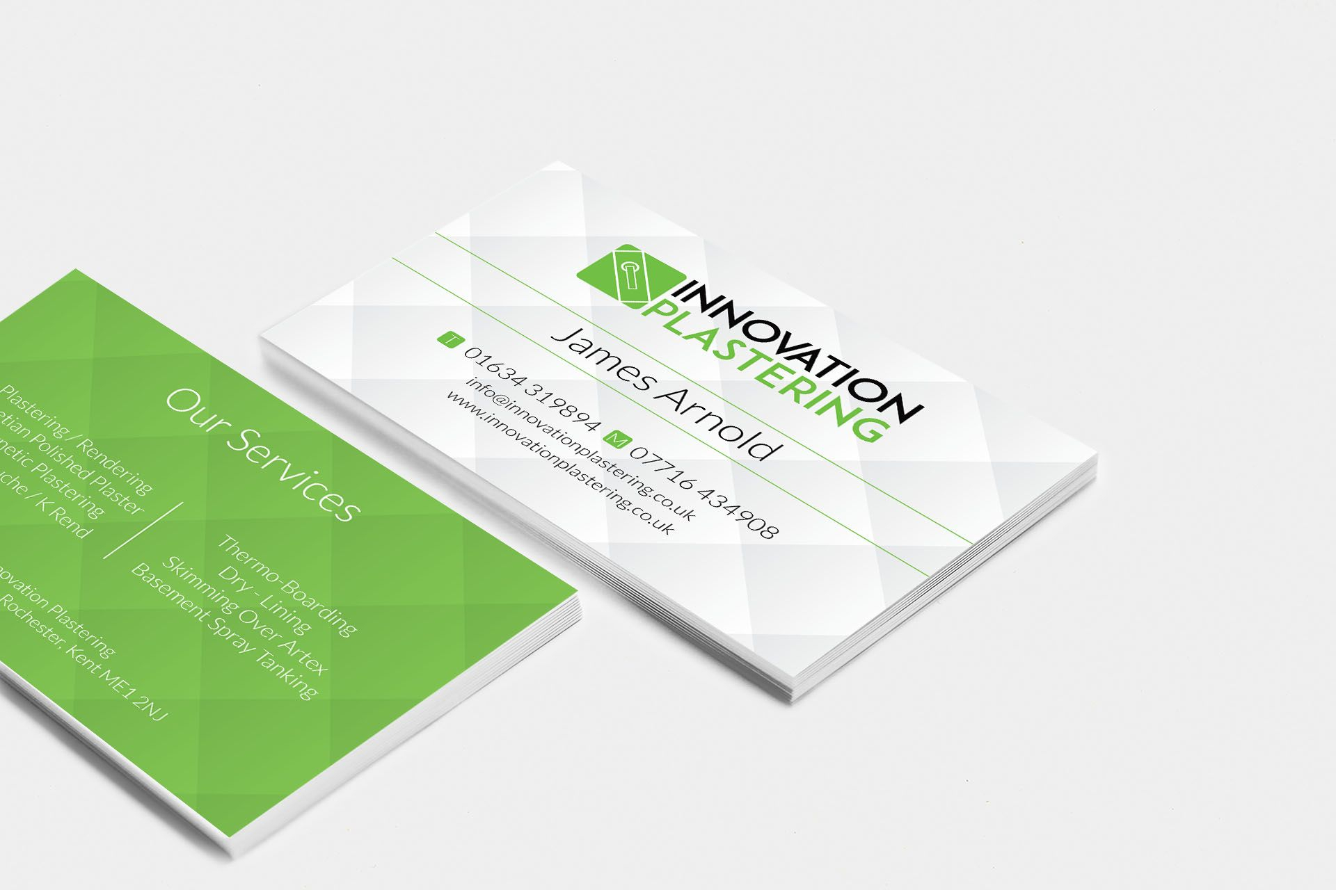 Innovation Plastering Business Card Design #businesscard Inside Plastering Business Cards Templates