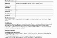 Internal Job Posting Template Word – Atlantaauctionco pertaining to Internal Job Posting Template Word