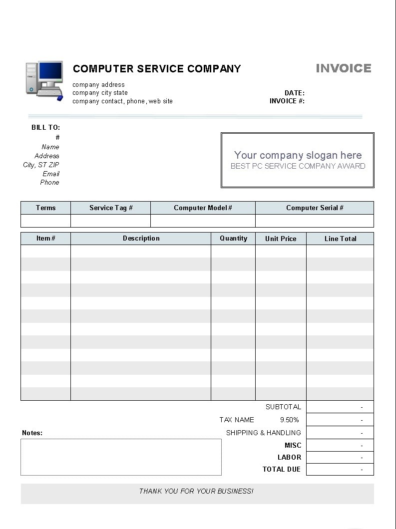 Invoice Template Ms Word 2010 – Aboveallservice Pertaining To Invoice Template Word 2010