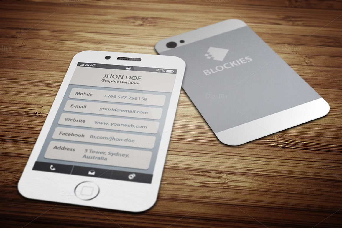 Iphone 6 (35% Off) Business Cardjigsawlab On Regarding Iphone Business Card Template