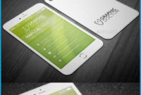 Iphone Business Card Template V 5 Throughout Iphone Business Card Template