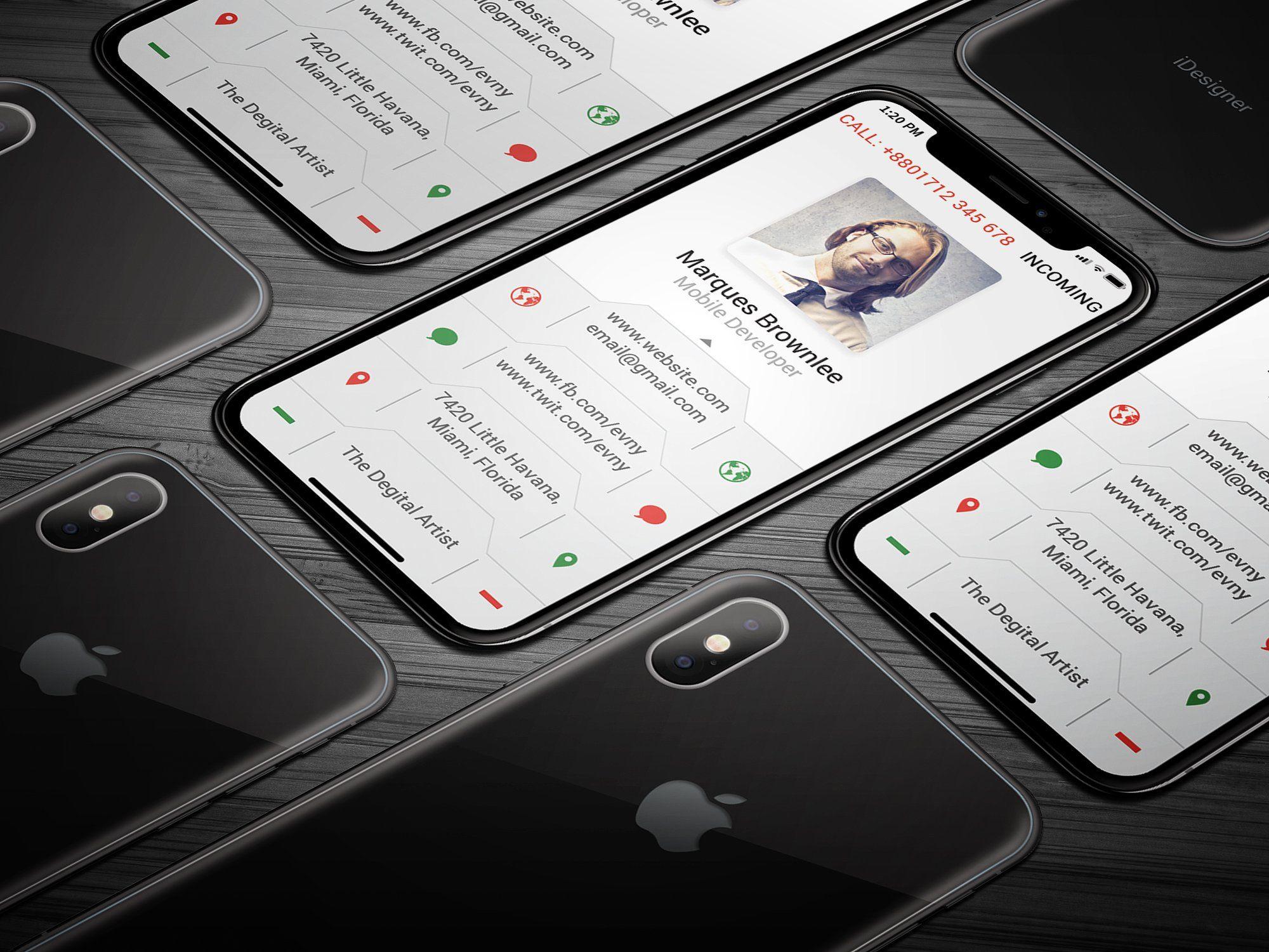 Iphone X Business Card #bleed#dpi#li#features | Business Inside Iphone Business Card Template