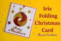 Iris Folding Christmas Ornament Card/ Handmade Greeting Card For Christmas regarding Iris Folding Christmas Cards Templates