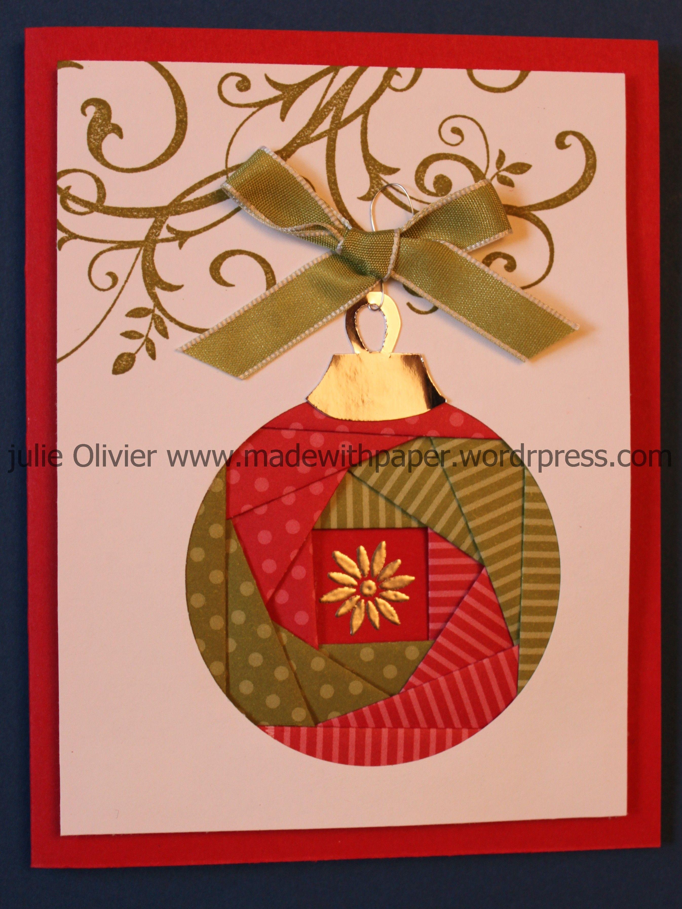 Iris Folding: Christmas Ornament | Cards - Iris Folding Inside Iris Folding Christmas Cards Templates