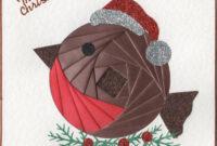 Iris Folding : Christmas Robin | Iris Folding | Pinterest in Iris Folding Christmas Cards Templates