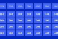 Jeopardy Game Powerpoint Templates regarding Jeopardy Powerpoint Template With Sound