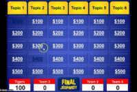 Jeopardy Powerpoint Template throughout Jeopardy Powerpoint Template With Sound