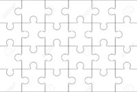 Jigsaw Puzzle Blank Template 6X4 Elements, Twenty Four Puzzle.. for Blank Jigsaw Piece Template