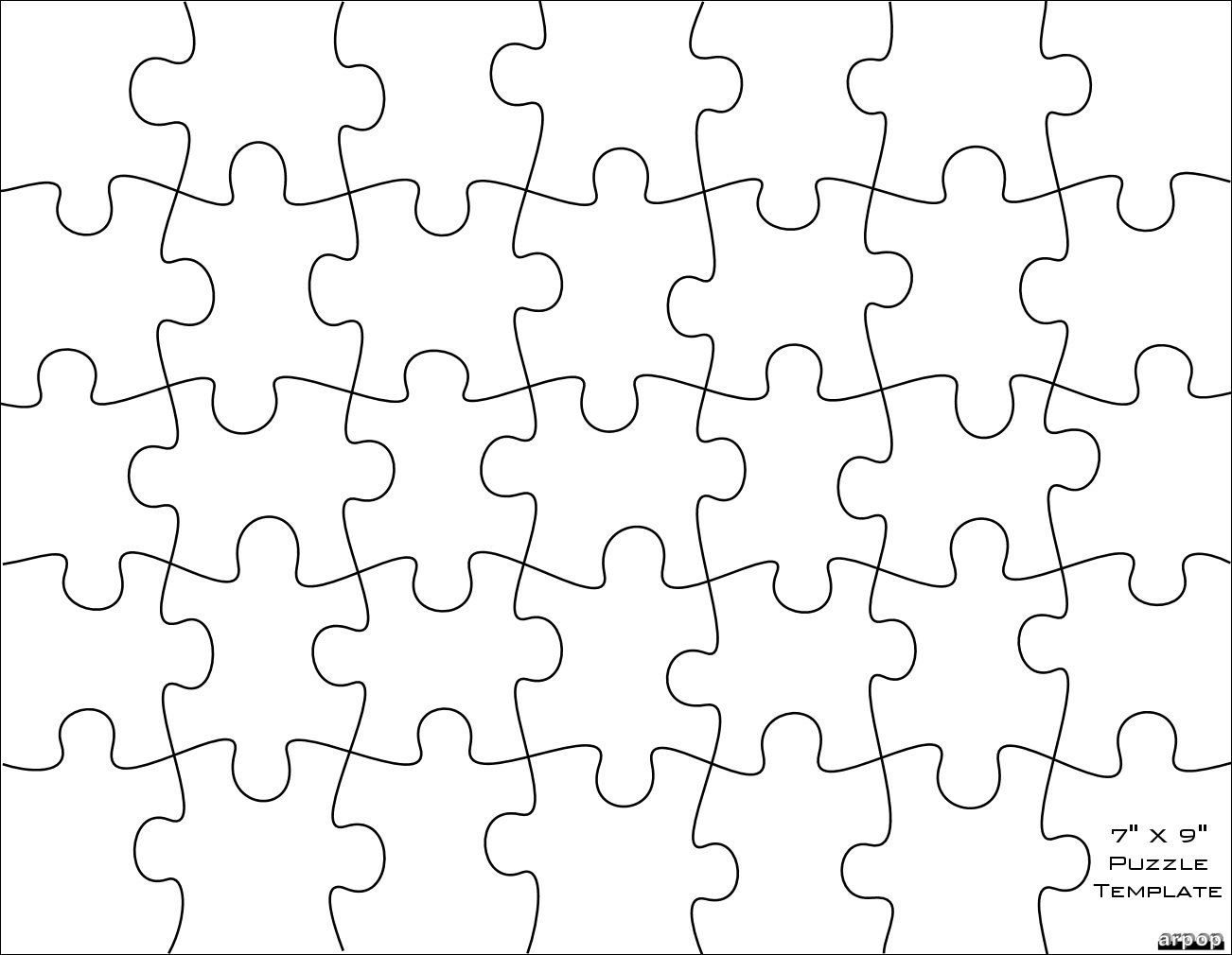Jigsaw Puzzle Template For Word - Atlantaauctionco Throughout Jigsaw Puzzle Template For Word