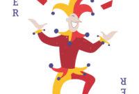 Joker Card Illustration – Vector Download in Joker Card Template