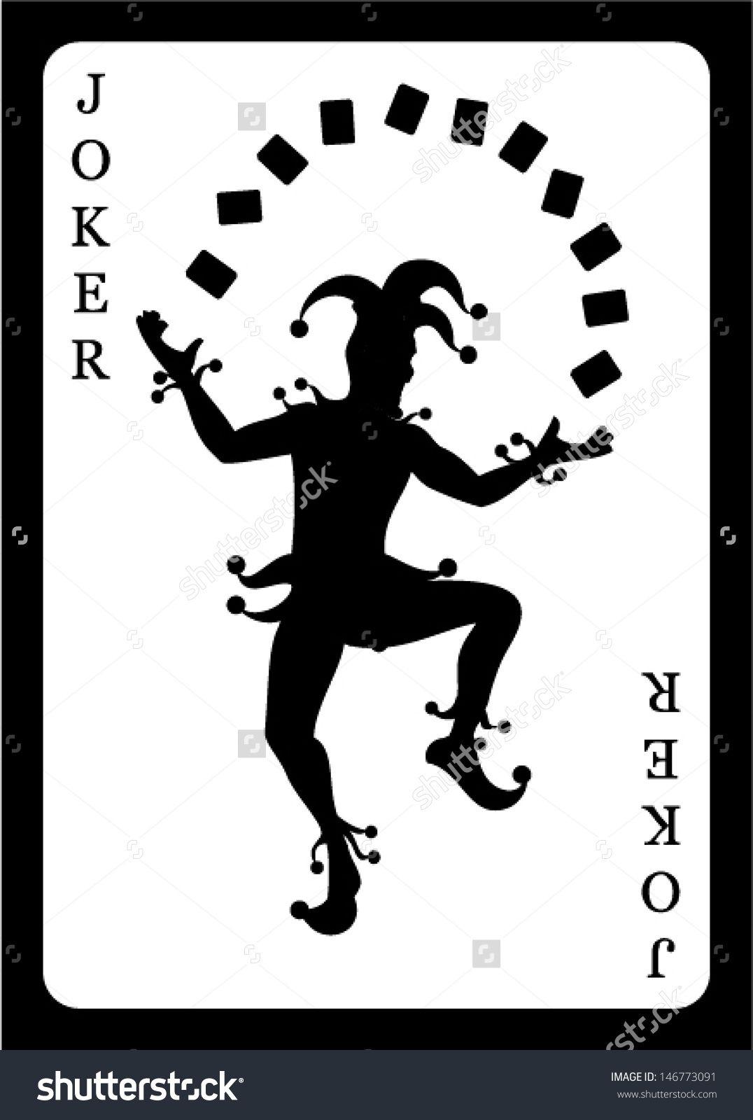 Joker Card. Vector Background. - 146773091 : Shutterstock Intended For Joker Card Template