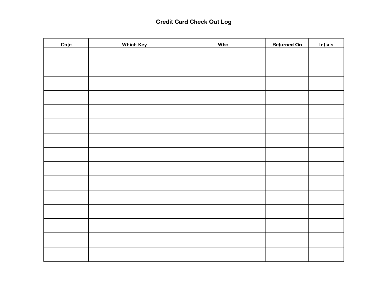 Key Sign Out Sheet Template | Scope Of Work Template Within Check Out Report Template
