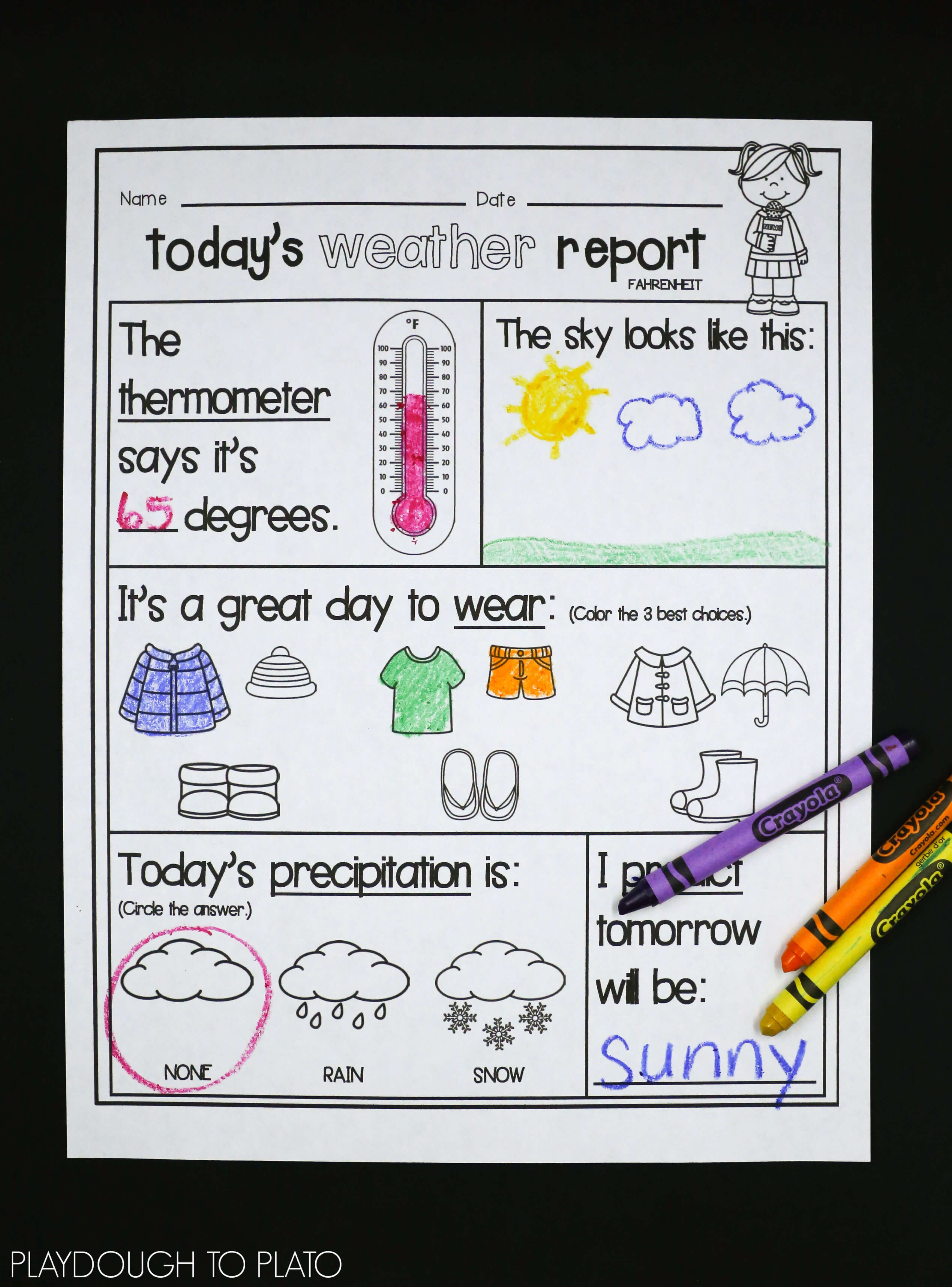 Kids Weather Report Template - Atlantaauctionco With Regard To Kids Weather Report Template