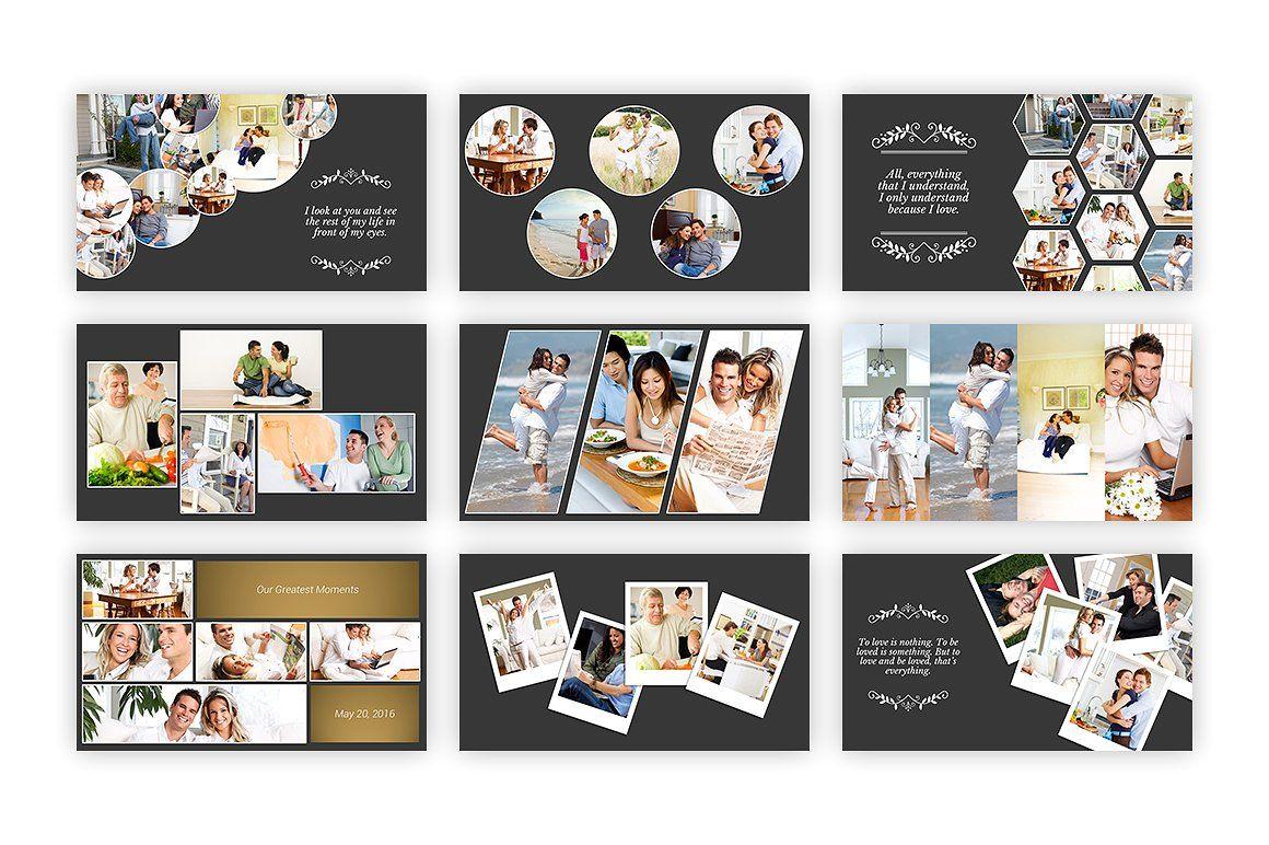 Kolase - Powerpoint Template #collage#perfect#album#family Regarding Powerpoint Photo Album Template
