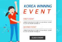 Korea Winning Event Banner Template inside Event Banner Template
