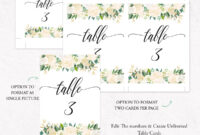 Kraft Table Numbers Template, F6 throughout Table Number Cards Template