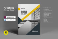 Kreatype Annual Reportkreatype Studio On @creativemarket in Annual Report Template Word Free Download