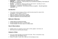 Lab Report Format Doc | Environmental Science Lessons | Lab within Science Lab Report Template