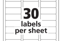 Label Templates 30 Per Sheet – Hizir.kaptanband.co With for Word Label Template 21 Per Sheet