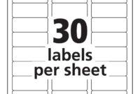 Label Templates 30 Per Sheet – Hizir.kaptanband.co With Regarding Label Template 21 Per Sheet Word