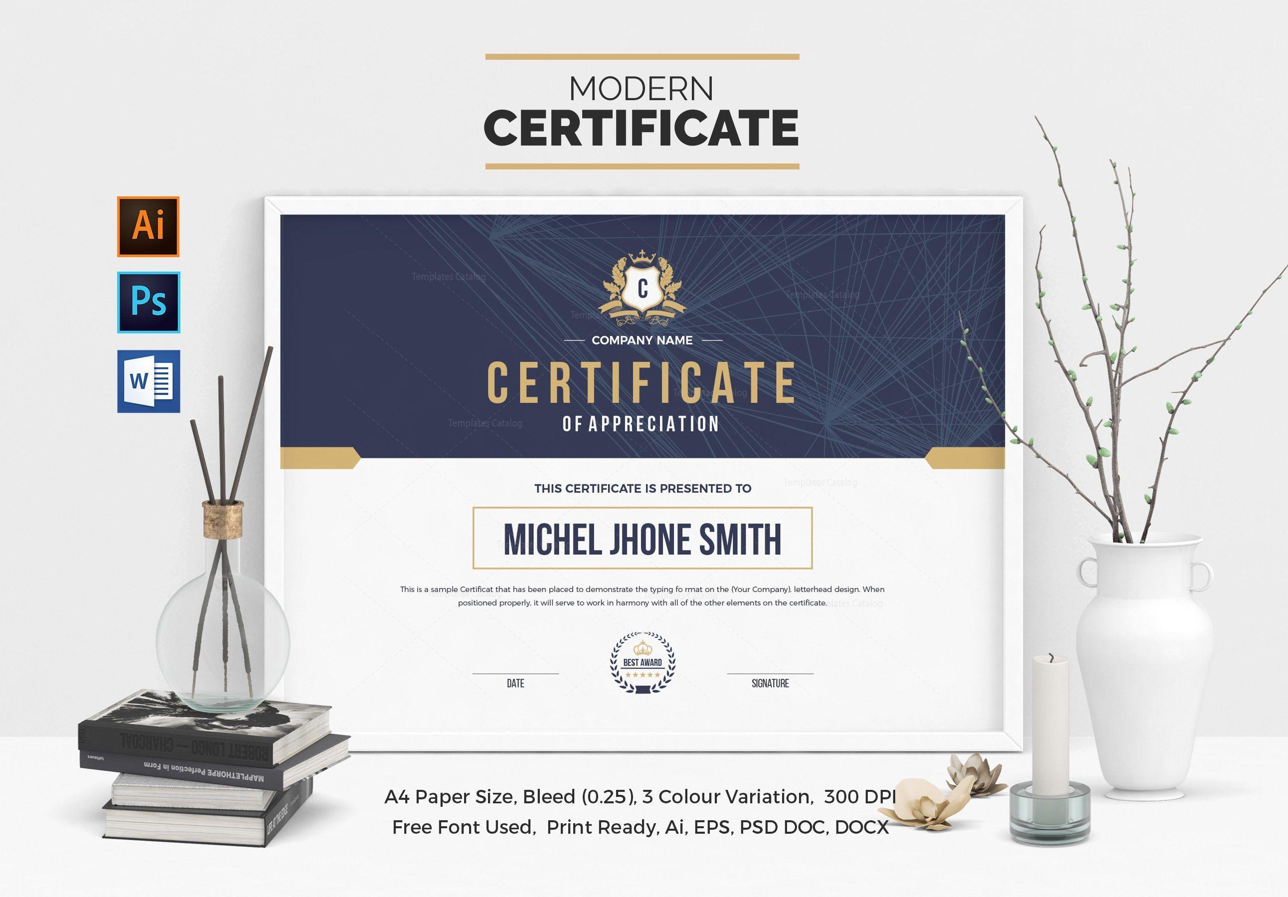 Landscape Certificate Template 000508 | Certificate Template With Regard To Landscape Certificate Templates