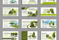 Landscape Design Studio Business Card Template Vector throughout Landscaping Business Card Template