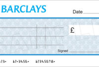 Large Blank Barclays Bank Cheque For Charity / Presentation throughout Blank Cheque Template Uk