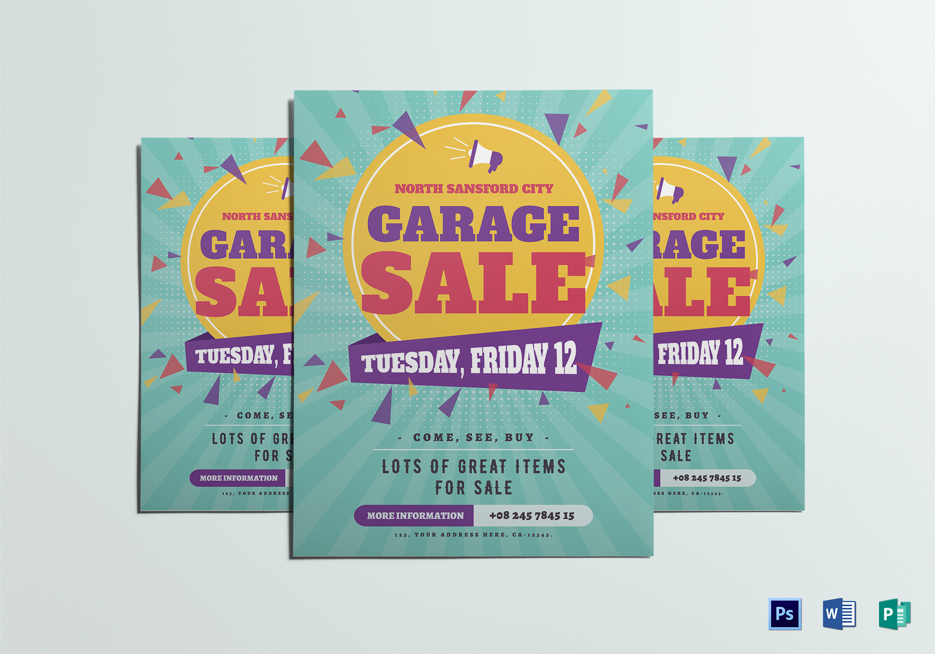 Large Garage Sale Flyer Template Throughout Yard Sale Flyer Template Word
