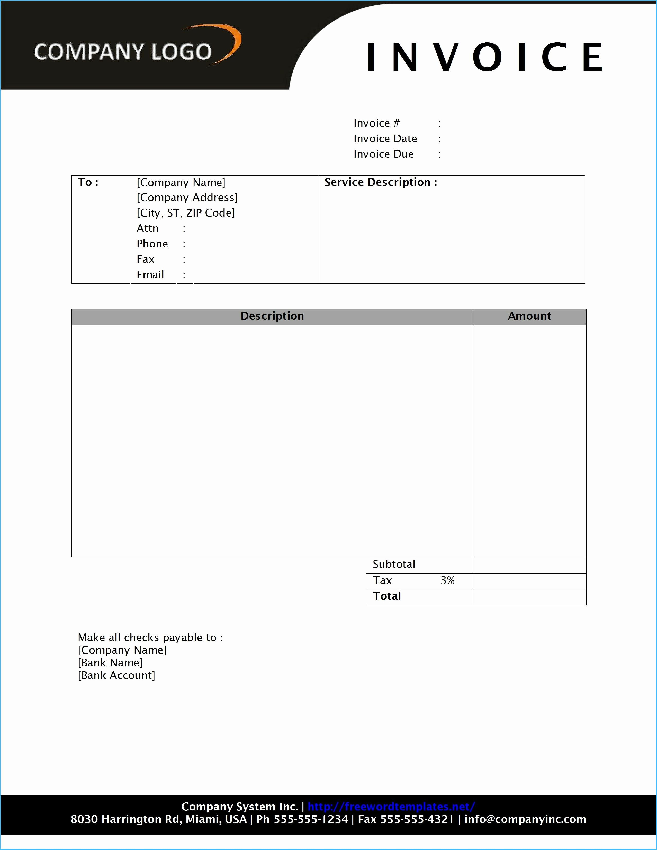 Latest Invoice Template Word 2010 Which You Need To Make Inside Invoice Template Word 2010
