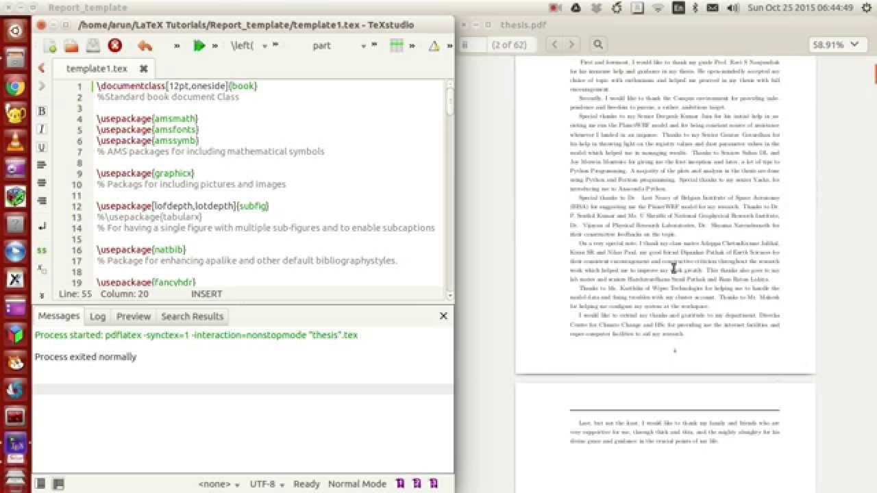 Latex Programming : 053 : Making Your Own Thesis/report Template Part 1 Of 4 Pertaining To Latex Template For Report
